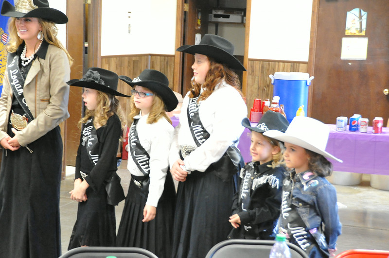 Miss Rodeo Logan County Regan Wheeler and five of the Little Miss participants at the Superintendents Barbecue July 31, 2014.