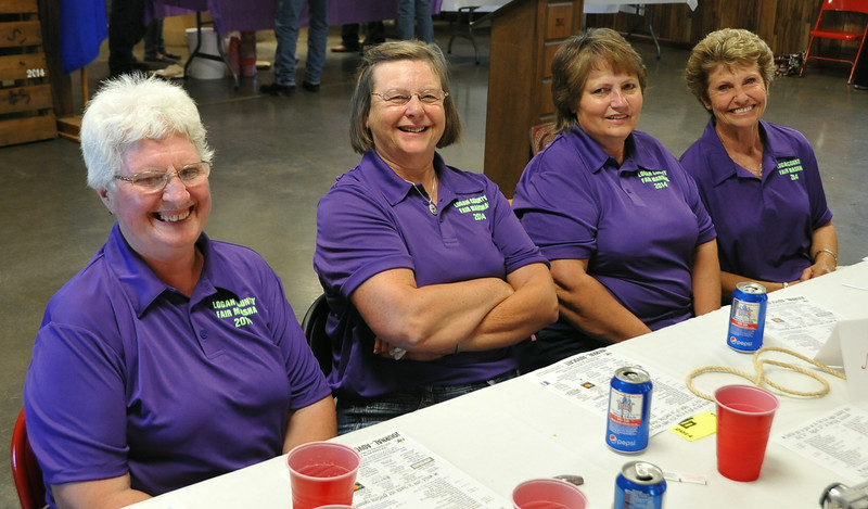 The 2014 Logan County Fair Parade Marshals, from left, Marilyn Hutt, Marlene Masin, Laural Brownell and Bonnie Amen, were recognized at the Superintendents Barbecue Thursday, July 31, 2014, at the Gary DeSoto Building.