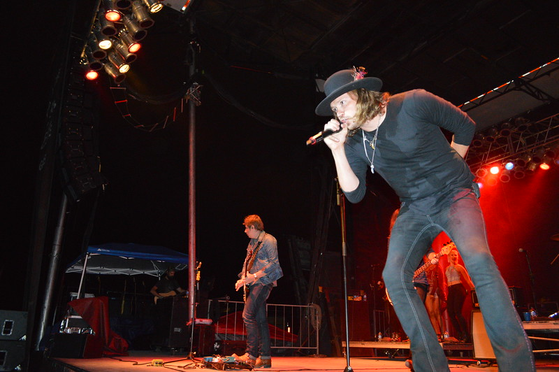 Lead singer John Hobby and A Thousand Horses headlined the night show August 6 at the Logan County Fairgrounds.