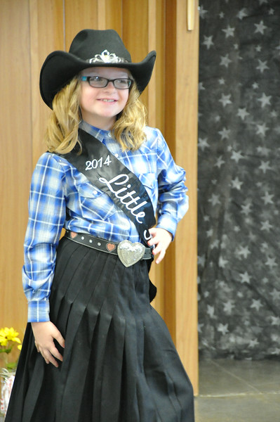 Molly Mitchell, 2014 Little Miss, modeling during the 2014 Logan County Royalty Contest Saturday, Aug. 2, 2014.