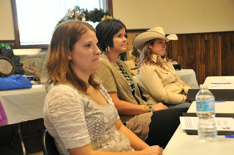 Judges for the Miss Rodeo Logan County contest (from left): Alynn Dyson, Chrissy Befus and Theresa Bartlett. Logan County Fair 2014