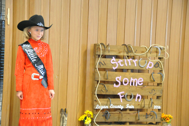 2014 Little Miss Emma Breidenbach modeling during the 2014 Logan County Royalty Contest Saturday, Aug. 2, 2014.