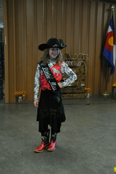Tobi-Beth Erickson, 2014 Little Miss, modeling during the 2014 Logan County Royalty Contest Saturday, Aug. 2, 2014.