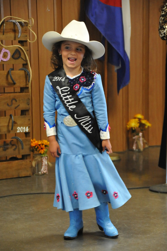 2014 Little Miss Hayden Walker modeling during the 2014 Logan County Royalty Contest Saturday, Aug. 2, 2014.