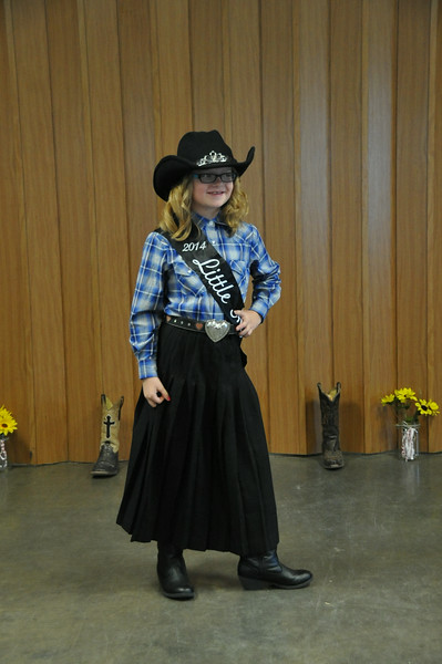 2014 Little Miss Molly Mitchell during the 2014 Logan County Royalty Contest Saturday, Aug. 2, 2014.