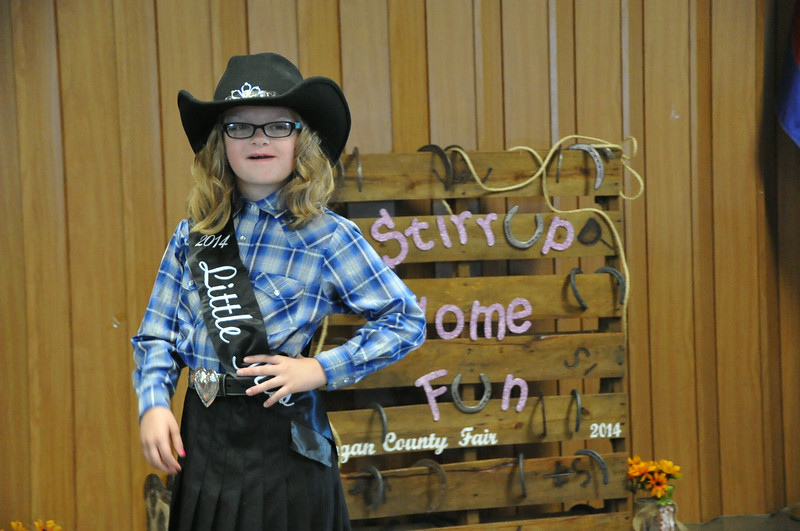 2014 Little Miss Molly Mitchell modeling during the 2014 Logan County Royalty Contest Saturday, Aug. 2, 2014.