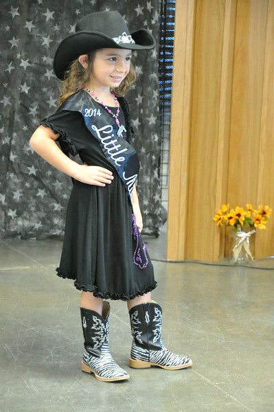 2014 Little Miss Alexis Gentry modeling during the 2014 Logan County Royalty Contest Saturday, Aug. 2, 2014.