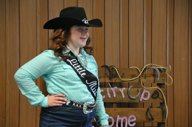 Natali Boerner, 2014 Little Miss, modeling during the 2014 Logan County Royalty Contest Saturday, Aug. 2, 2014.