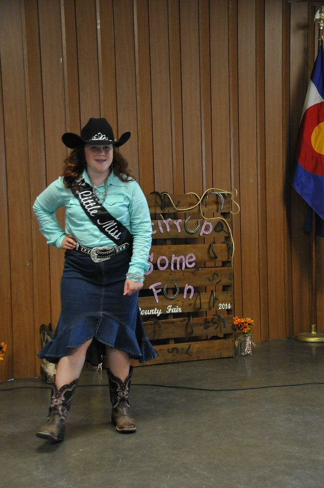 2014 Little Miss Natali Boerner modeling during the 2014 Logan County Royalty Contest Saturday, Aug. 2, 2014.