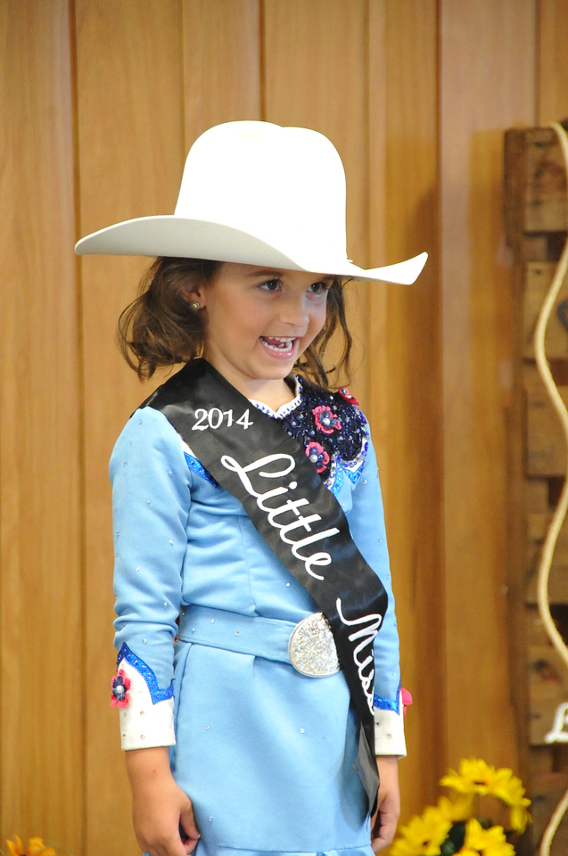 Hayden Walker, 2014 Little Miss, modeling during the 2014 Logan County Royalty Contest Saturday, Aug. 2, 2014.