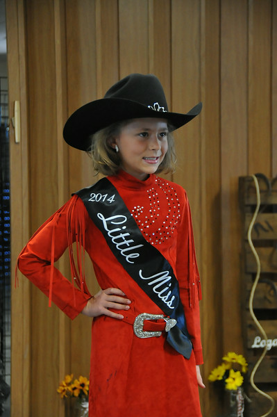 Emma Breidenbach, 2014 Little Miss, during the 2014 Logan County Royalty Contest Saturday, Aug. 2, 2014.