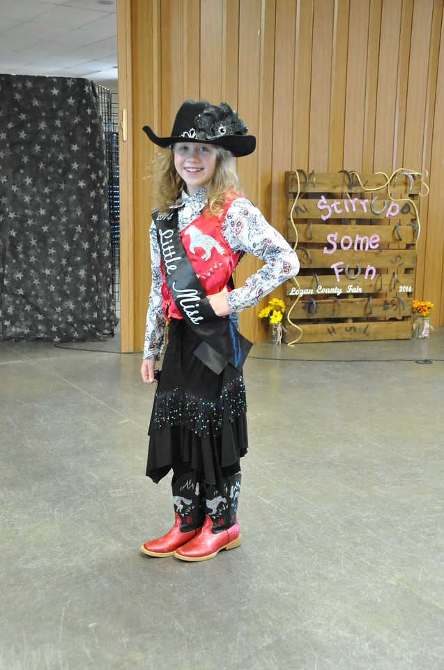 2014 Little Miss Tobi-Beth Erickson modeling during the 2014 Logan County Royalty Contest Saturday, Aug. 2, 2014.