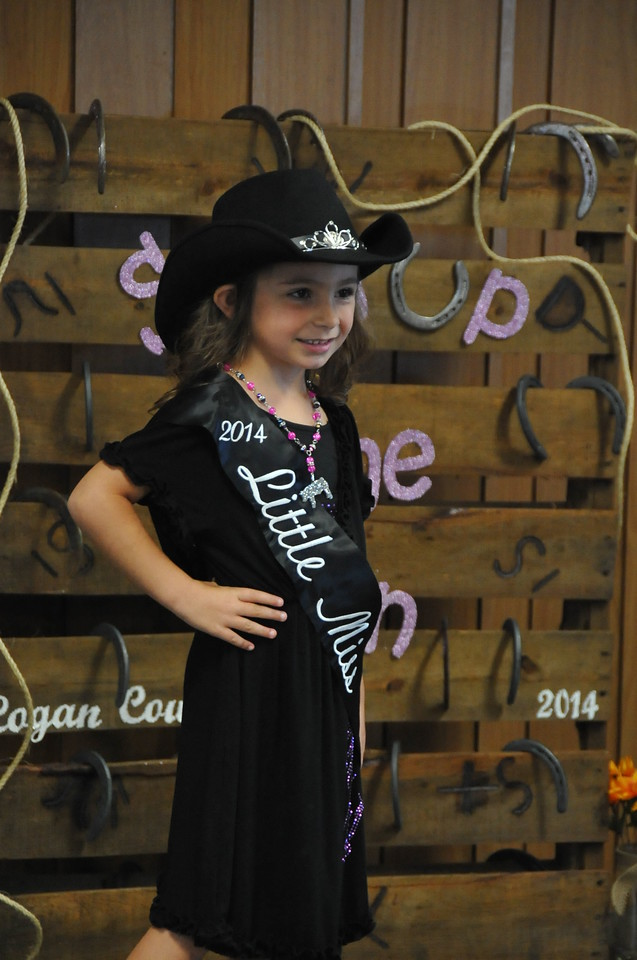 Alexis Gentry, 2014 Little Miss, modeling during the 2014 Logan County Royalty Contest Saturday, Aug. 2, 2014.