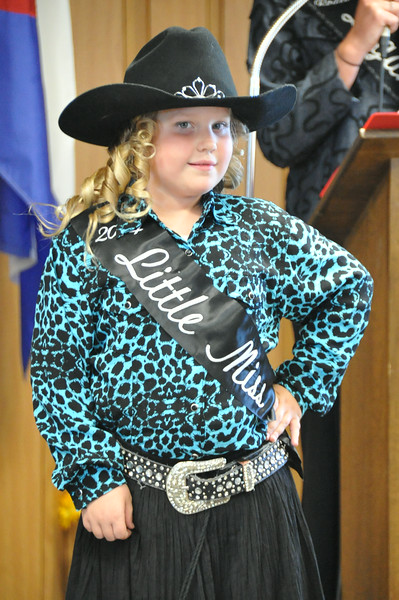 2014 Little Miss Ashlyn Schmidt modeling during the 2014 Logan County Royalty Contest Saturday, Aug. 2, 2014.