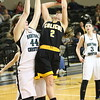 Caliche's Kayla Zink (2) puts up a shot in the district semifinal game vs. Heritage Christian Friday, Feb. 25, 2017, in the Northeastern Junior College Bank of Colorado Event Center. The Lady Buffs lost 48-43. (Melanie Kindvall/Courtesy photo)