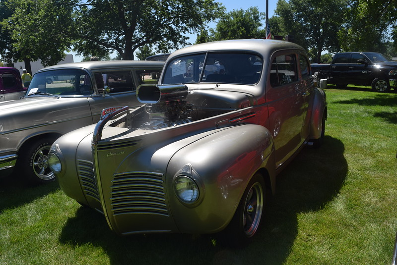 A 1940 Plymouth, owned by Jason and Wendy Gonzalez, of Loveland, was among the vehicles on display at Colorado Flatlanders 25th Annual Rod Run in the Park Saturday, July 9, 2016, at Pioneer Park.