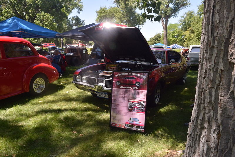 A 1969 Oldmobile 4-4-2 Holiday Coupe was among the vehicles on display at Colorado Flatlanders 25th Annual Rod Run in the Park Saturday, July 9, 2016, at Pioneer Park.