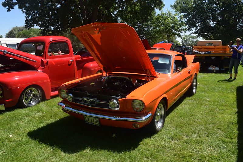 A 1965 Ford Mustang, owned by Chuck Garza, of Arvada, was among the vehicles on display at Colorado Flatlanders 25th Annual Rod Run in the Park Saturday, July 9, 2016, at Pioneer Park.