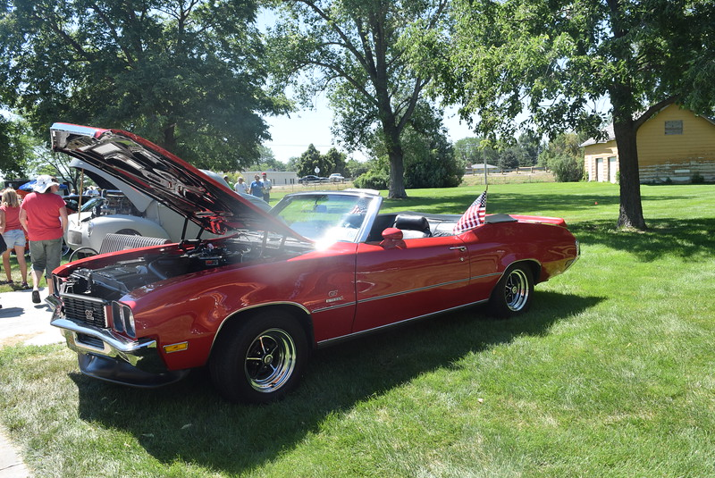 A 1972 Buick GS Stage 1, owned by John and Bobby Weisgerber, was among the vehicles with a patriotic flare at Colorado Flatlanders 25th Annual Rod Run in the Park Saturday, July 9, 2016, at Pioneer Park.