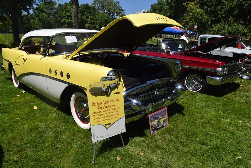 "A 1955 Buick Special Riviera 46R, owned by ""Twig"" Lindsey, of Arvada, was among the vehicles on display at Colorado Flatlanders 25th Annual Rod Run in the Park Saturday, July 9, 2016, at Pioneer Park."