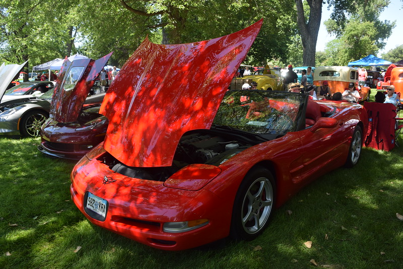 A 2000 Chevrolet Corvette was among the vehicles on display at at Colorado Flatlanders 25th Annual Rod Run in the Park Saturday, July 9, 2016, at Pioneer Park.