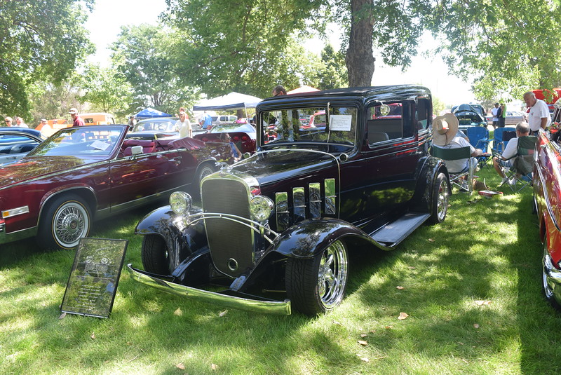 A 1932 Chevy 2 Dr Sedan Model B, owned by Ron and Linda Hanstrom, of Lakewood, was among the vehicles on display at Colorado Flatlanders 25th Annual Rod Run in the Park Saturday, July 9, 2016, at Pioneer Park.