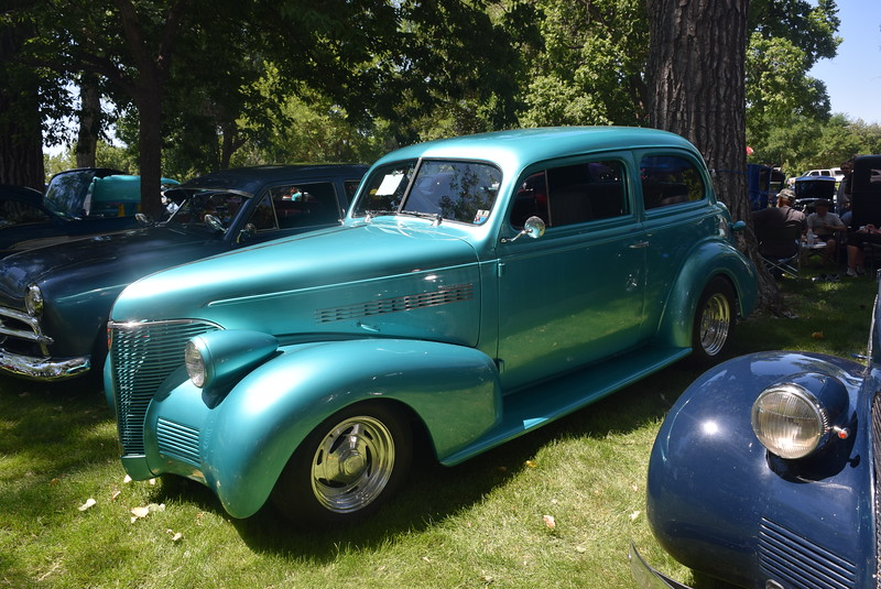 A 1939 Chevy 2 Door, owned by JD Crabdree, of Aurora, was among the vehicles on display at Colorado Flatlanders 25th Annual Rod Run in the Park Saturday, July 9, 2016, at Pioneer Park.