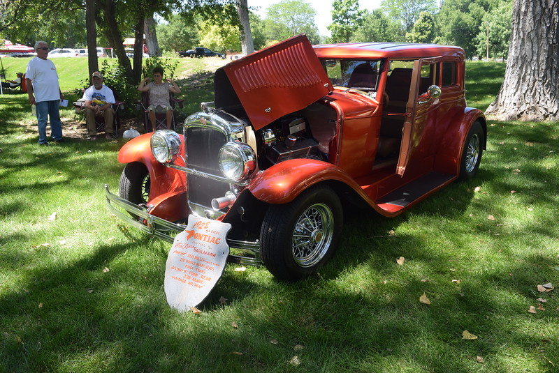 A 1928 Pontiac Vicky Coupe, owned by Vern and Laura Bahlmann, of Loveland, was among the vehicles on display at Colorado Flatlanders 25th Annual Rod Run in the Park Saturday, July 9, 2016, at Pioneer Park.