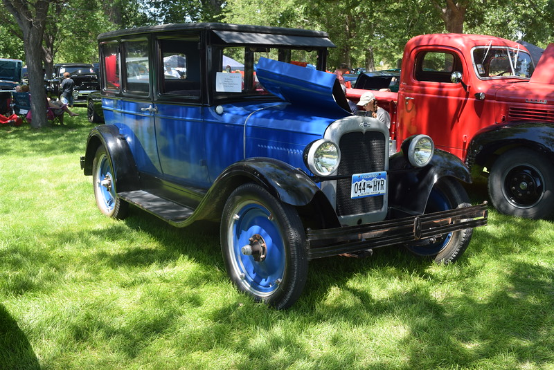A 1927 Chevy Capital Sedan, owned by Ed Belden, of Sterling, was among the vehicles on display at Colorado Flatlanders 25th Annual Rod Run in the Park Saturday, July 9, 2016, at Pioneer Park.