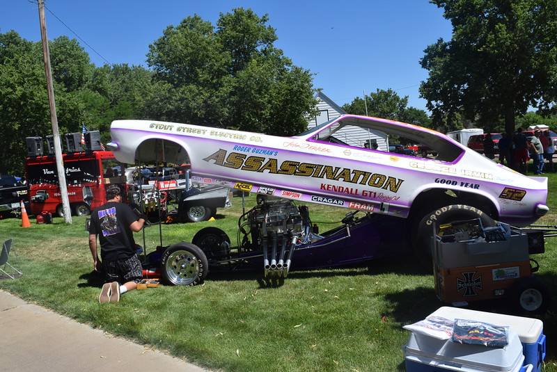 The Assassination was one of the Ntro Cars at the Colorado Flatlanders 25th Annual Rod Run in the Park, Saturday, July 9, 2016, at Pioneer Park.