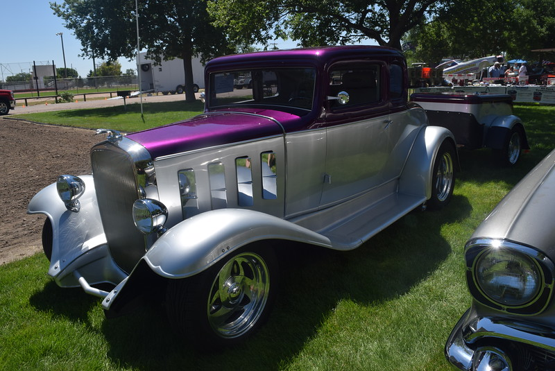 A 1932 Chevy 5W Coupe, owned by Dan Price, of Westminster, was among the vehicles on display at Colorado Flatlanders 25th Annual Rod Run in the Park Saturday, July 9, 2016, at Pioneer Park.