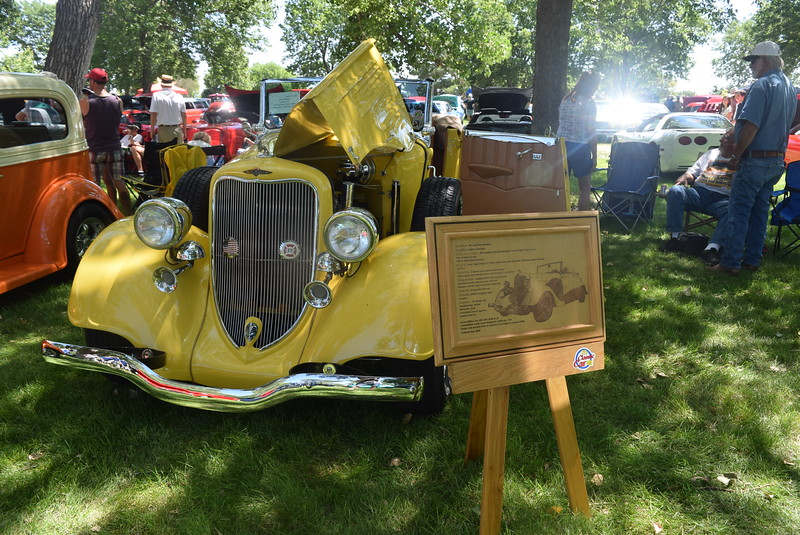 A 1934 Dodge Convertible, owned by Jim Dorland, of Eaton, was among the vehicle on display at Colorado Flatlanders 25th Annual Rod Run in the Park Saturday, July 9, 2016, at Pioneer Park.