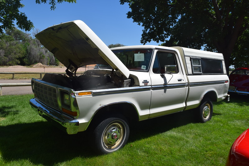A 1978 Ford F-150, owned by Kevin Widener, of Merino, was among the vehicles on display at Colorado Flatlanders 25th Annual Rod Run in the Park Saturday, July 9, 2016, at Pioneer Park.