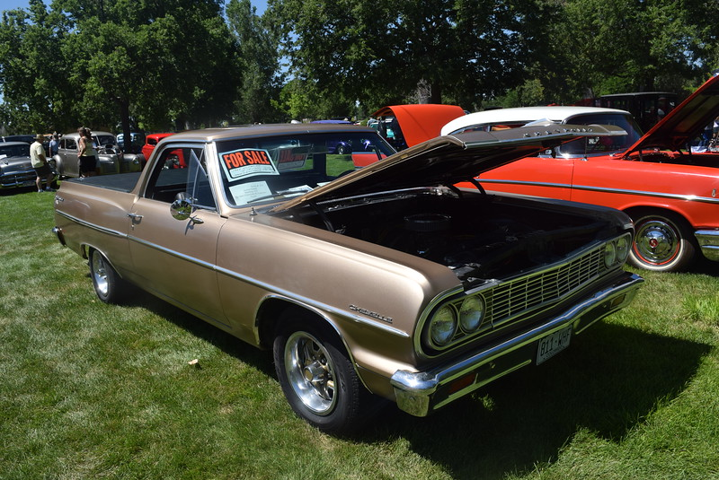 A 1964 Chevrolet El Camino, owned by Jeane Kaiser, of Sterling, was among the vehicles on display at Colorado Flatlanders 25th Annual Rod Run in the Park Saturday, July 9, 2016, at Pioneer Park.