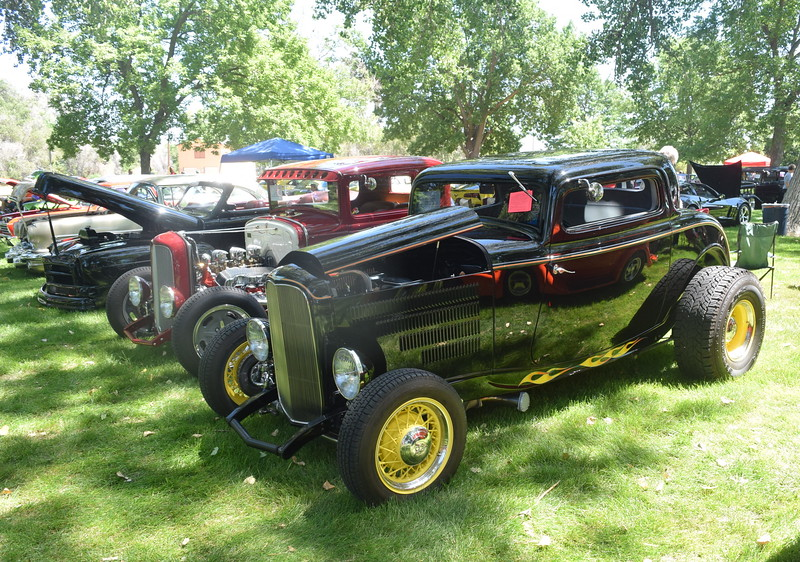 A 1932 Ford 3 Window Coupe, owned by Mike Linda Wells, of Longmont, was among the vehicles on display at Colorado Flatlanders 25th Annual Rod Run in the Park Saturday, July 9, 2016, at Pioneer Park.