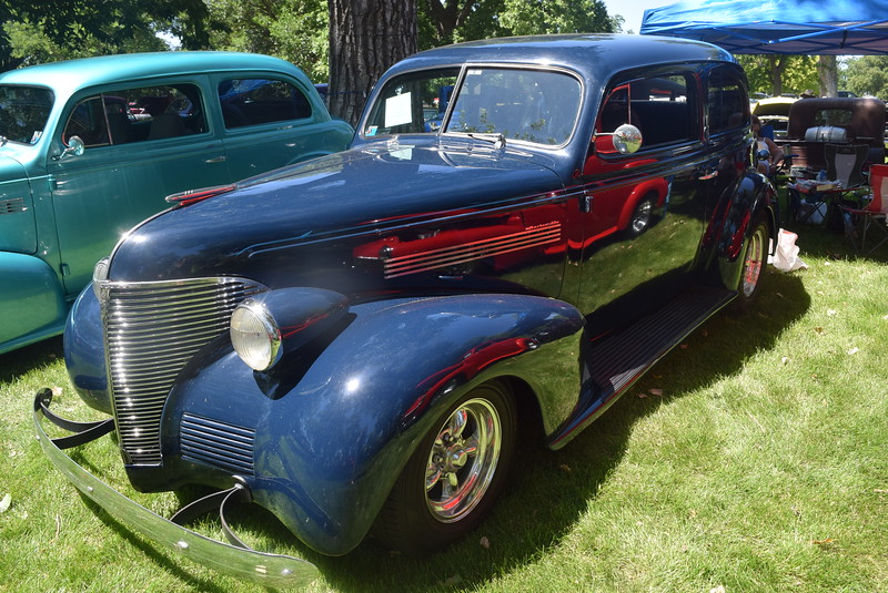 A 1939 Chevy 2 Door, owned by Linda Crabdree, of Aurora, was among the vehicles on display at Colorado Flatlanders 25th Annual Rod Run in the Park Saturday, July 9, 2016, at Pioneer Park.