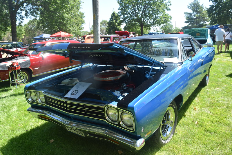A 1969 Plymouth Roadrunner, owned by Steve Masters, of Sterling, was among the vehicles on display at Colorado Flatlanders 25th Annual Rod Run in the Park Saturday, July 9, 2016, at Pioneer Park.