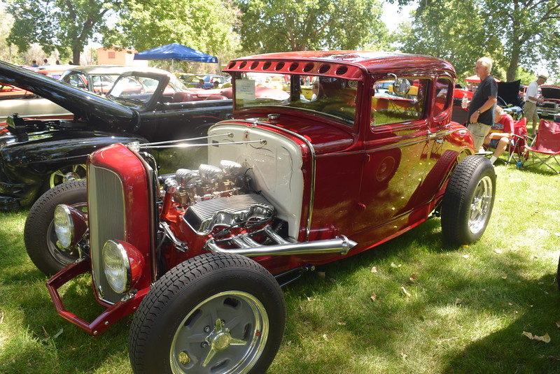 A 1930 Ford Model A, owned by Terry Campbell, of Mead, was among the vehicles on display at Colorado Flatlanders 25th Annual Rod Run in the Park Saturday, July 9, 2016, at Pioneer Park.