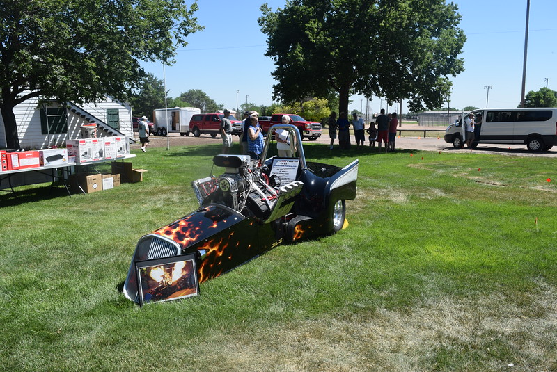Granny's Nike Trike was among the vehicles on display at Colorado Flatlanders 25th Annual Rod Run in the Park Saturday, July 9, 2016, at Pioneer Park.