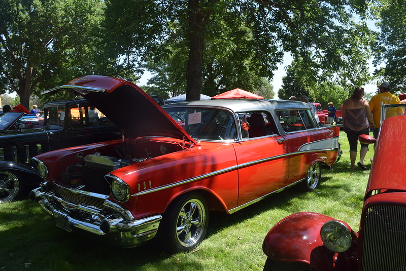 A 1957 Chevy Nomad, owned by Scott Isaacson, of Littleton, was among the vehicles on display at Colorado Flatlanders 25th Annual Rod Run in the Park Saturday, July 9, 2016, at Pioneer Park.