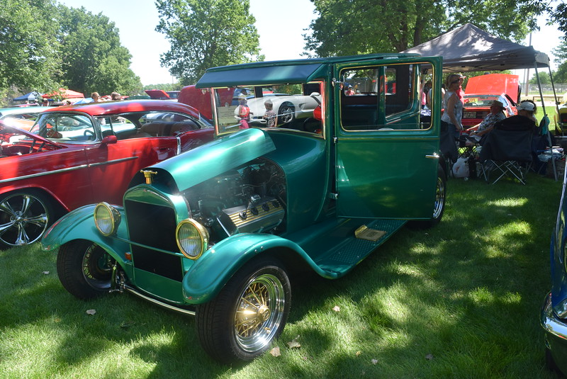A 1927 Ford 2 Door Sedan, owned by Rocky and Georgine Zalesky, of Jefferson, was among the vehicles on display at Colorado Flatlanders 25th Annual Rod Run in the Park Saturday, July 9, 2016, at Pioneer Park.