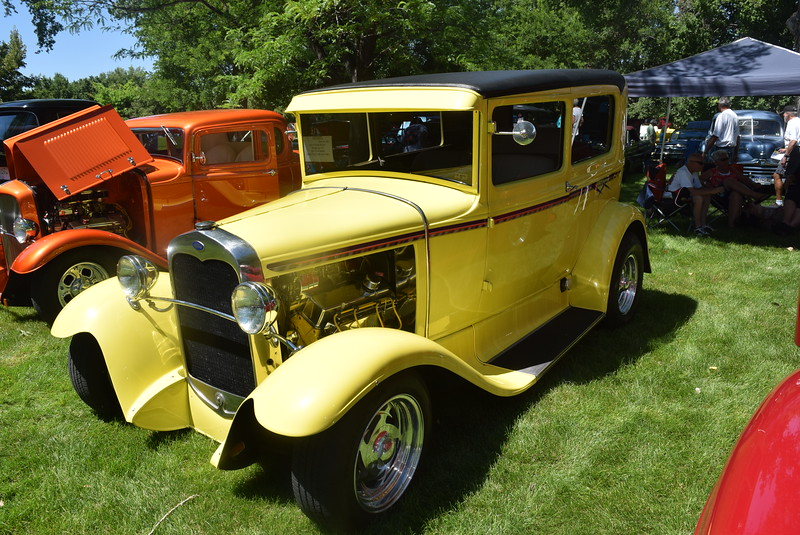 A 1931 Ford Sedan, owned by Ron and Rose Brown, of Strasburg, was among the vehicles on display at Colorado Flatlanders 25th Annual Rod Run in the Park Saturday, July 9, 2016, at Pioneer Park.