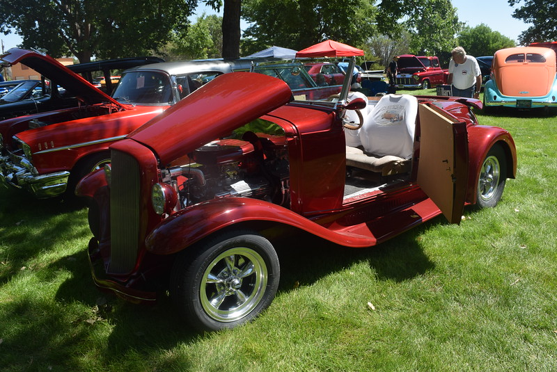 A 1931 Chevrolet Roadster, owned by Jack and Sandy Callahan, of Centennial, was among the vehicles on display at Colorado Flatlanders 25th Annual Rod Run in the Park Saturday, July 9, 2016, at Pioneer Park.