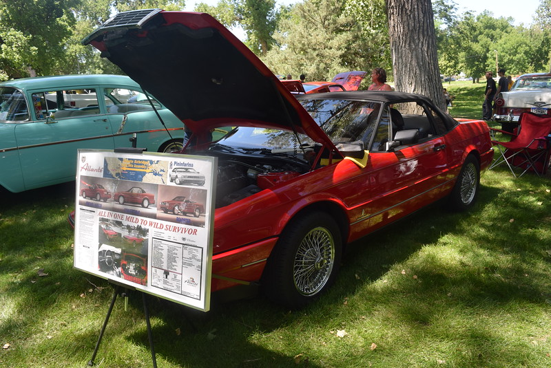 An Allante Convertible was among the vehicles on display at Colorado Flatlanders 25th Annual Rod Run in the Park Saturday, July 9, 2016, at Pioneer Park.