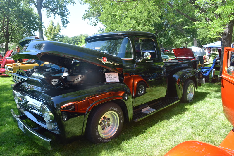 A 1956 Ford F100, owned by Bob Klein, of Sterling, was among the vehicles on display at Colorado Flatlanders 25th Annual Rod Run in the Park Saturday, July 9, 2016, at Pioneer Park.