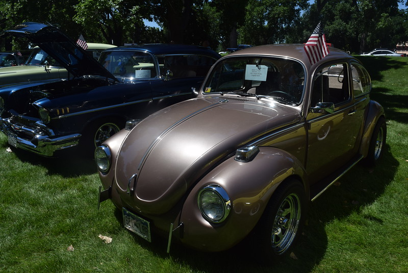 A 1971 Super Beetle, owned by Susan Chaney, of Thorton, was among the vehicles on display at Colorado Flatlanders 25th Annual Rod Run in the Park Saturday, July 9, 2016, at Pioneer Park.