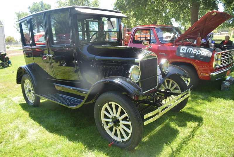 A 1927 Ford Model T, owned by Dick and Gloria Fiegenschuh, of Sidney, Neb., was among the vehicles on display at Colorado Flatlanders 25th Annual Rod Run in the Park Saturday, July 9, 2016, at Pioneer Park.