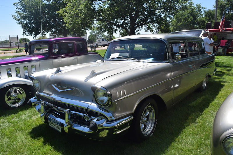 A 1957 Chevy Wagon, owned by Brian and Sadie Kelly, of Windsor, was among the vehicles on display at Colorado Flatlanders 25th Annual Rod Run in the Park Saturday, July 9, 2016, at Pioneer Park.