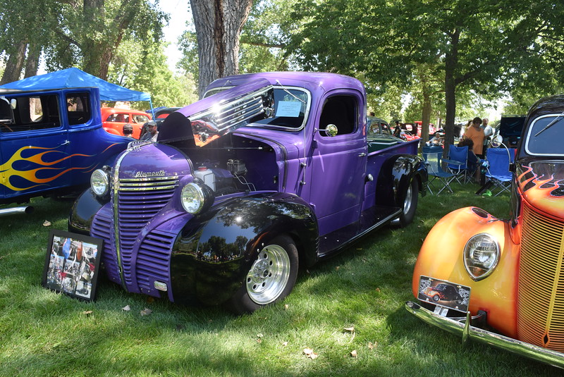 A 1940 Plymouth Pickup, owned by Jeff and Tammy Heppner, of Sterling, was among the vehicles on display at Colorado Flatlanders 25th Annual Rod Run in the Park Saturday, July 9, 2016, at Pioneer Park.