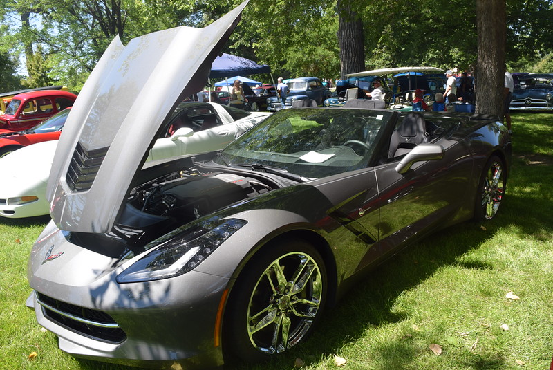 A 2015 Chevrolet Corvette, owned by Tom and Mary Kay Mansfield, of Littleton, was among the vehicles on display at Colorado Flatlanders 25th Annual Rod Run in the Park Saturday, July 9, 2016, at Pioneer Park.